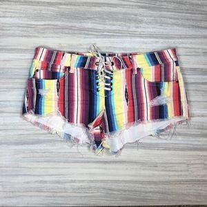 Billabong cut off denim shorts